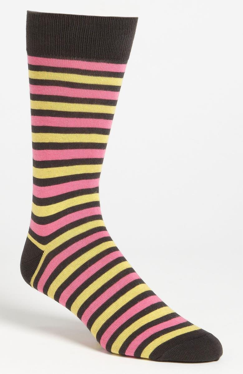 LORENZO UOMO Stripe Socks, Main, color, 020
