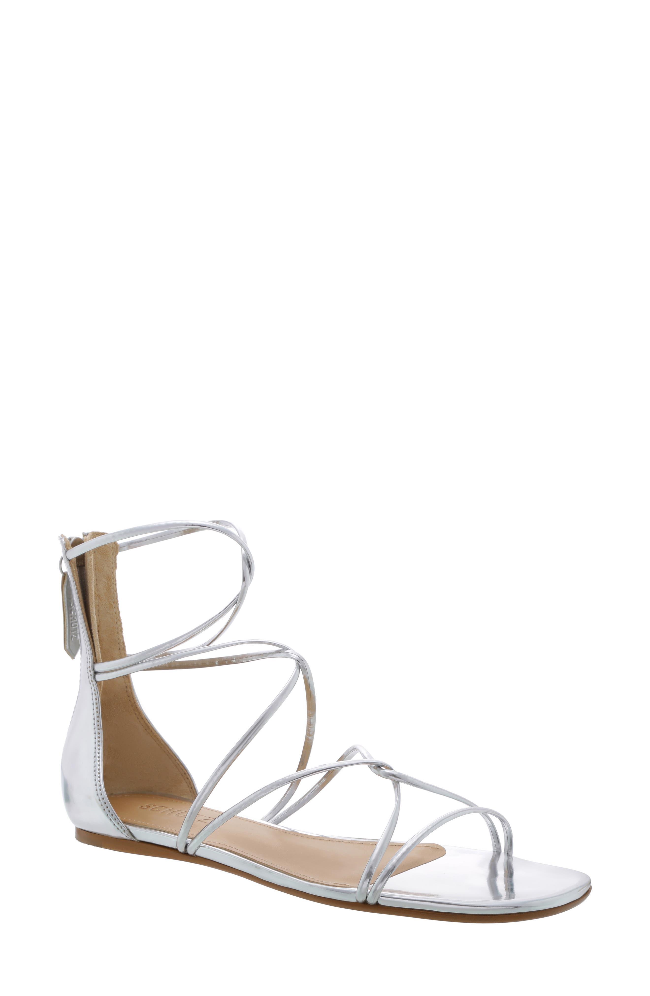 Schutz Fabia Strappy Sandal- Metallic
