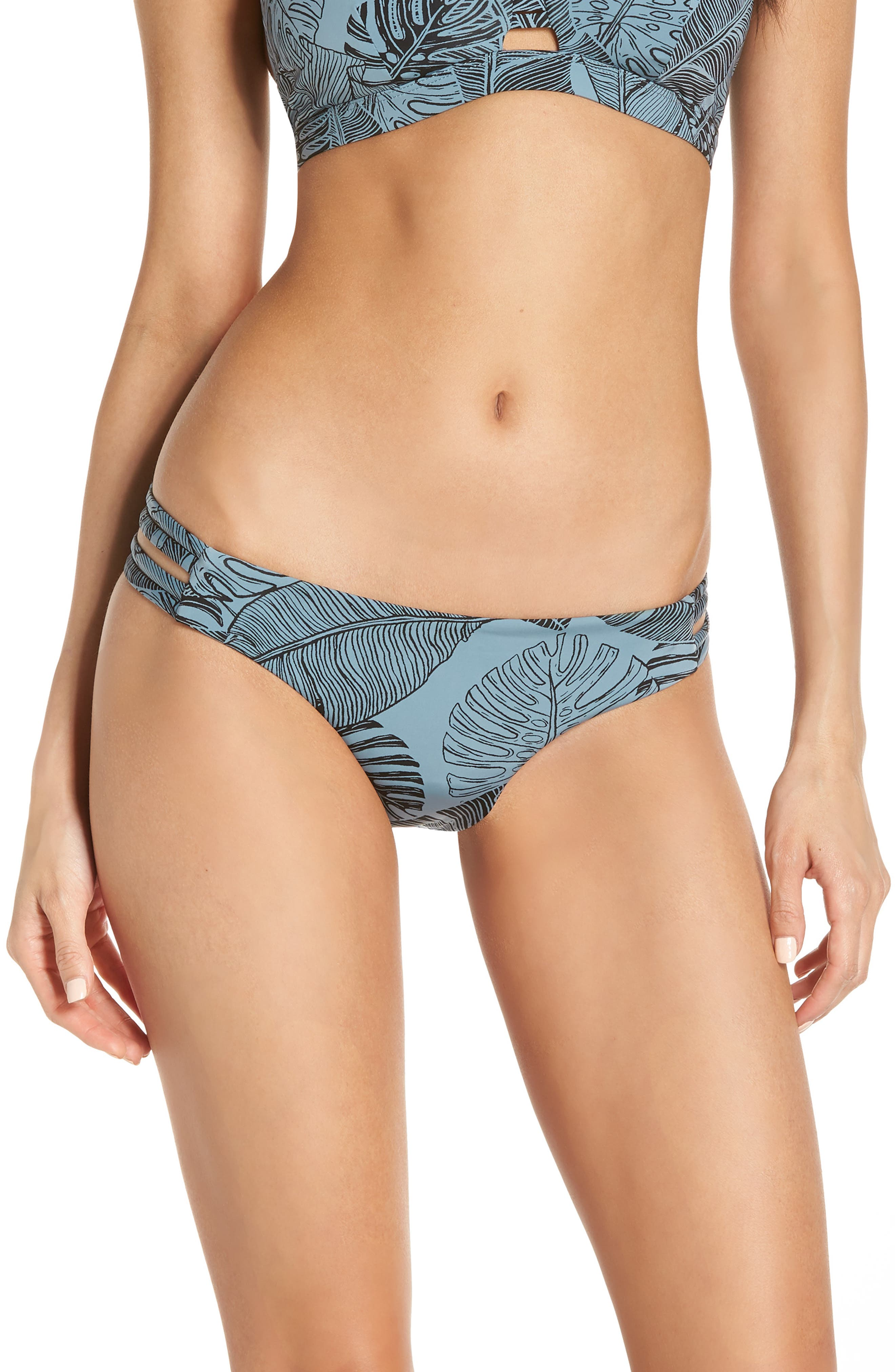 Hurley Quick Dry Max Paradise Bikini Bottoms, Blue