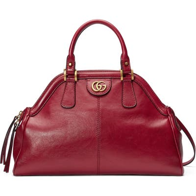 Gucci Medium Re(Belle) Leather Satchel - Red