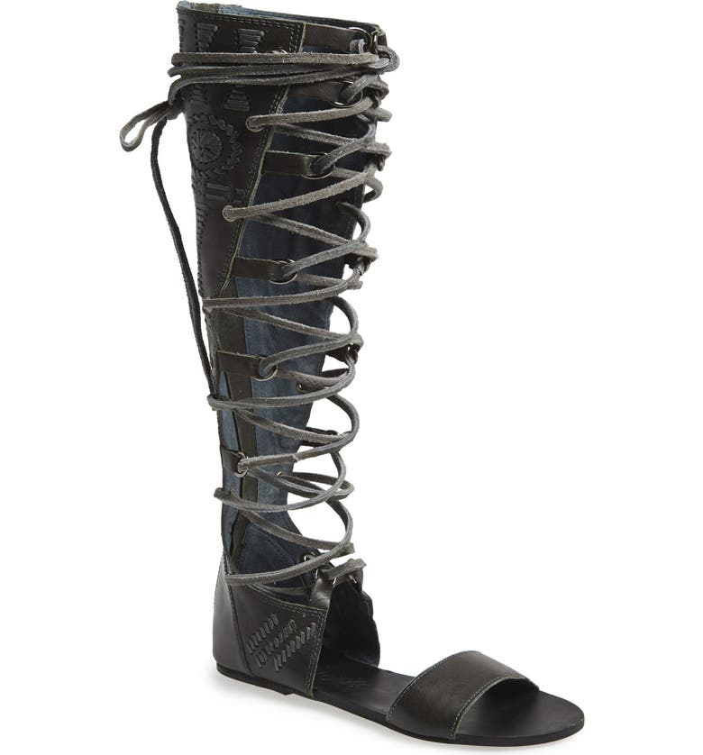 FREE PEOPLE 'Bellflower' Tall Gladiator Sandal, Main, color, 020