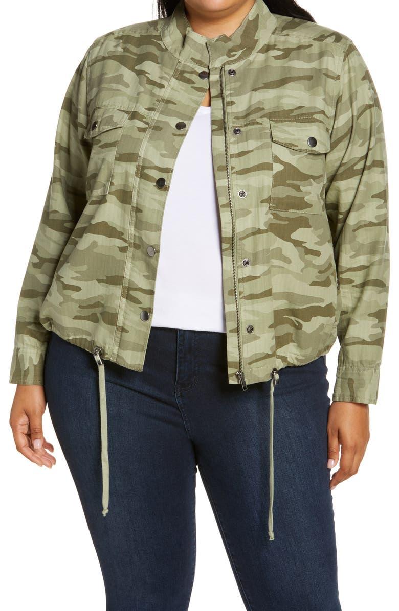 CASLON<SUP>®</SUP> Lightweight Jacket, Main, color, GREEN SPRING CAMO