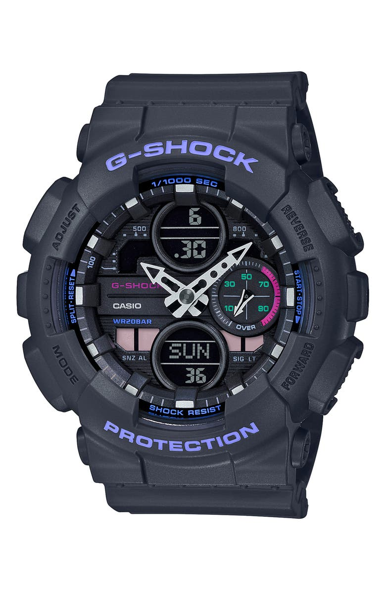G-SHOCK BABY-G G-Shock S-Series Ana-Digi Resin Watch, 46mm, Main, color, 020