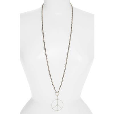 Sheryl Lowe Peace Sign Pendant Necklace