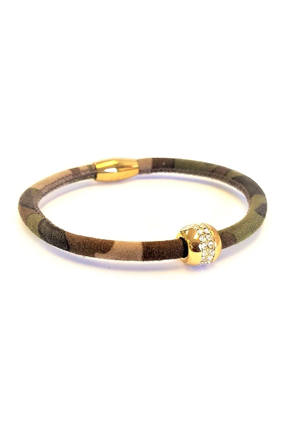Image of Liza Schwartz Good Karma Camouflage Premium Leather Bracelet
