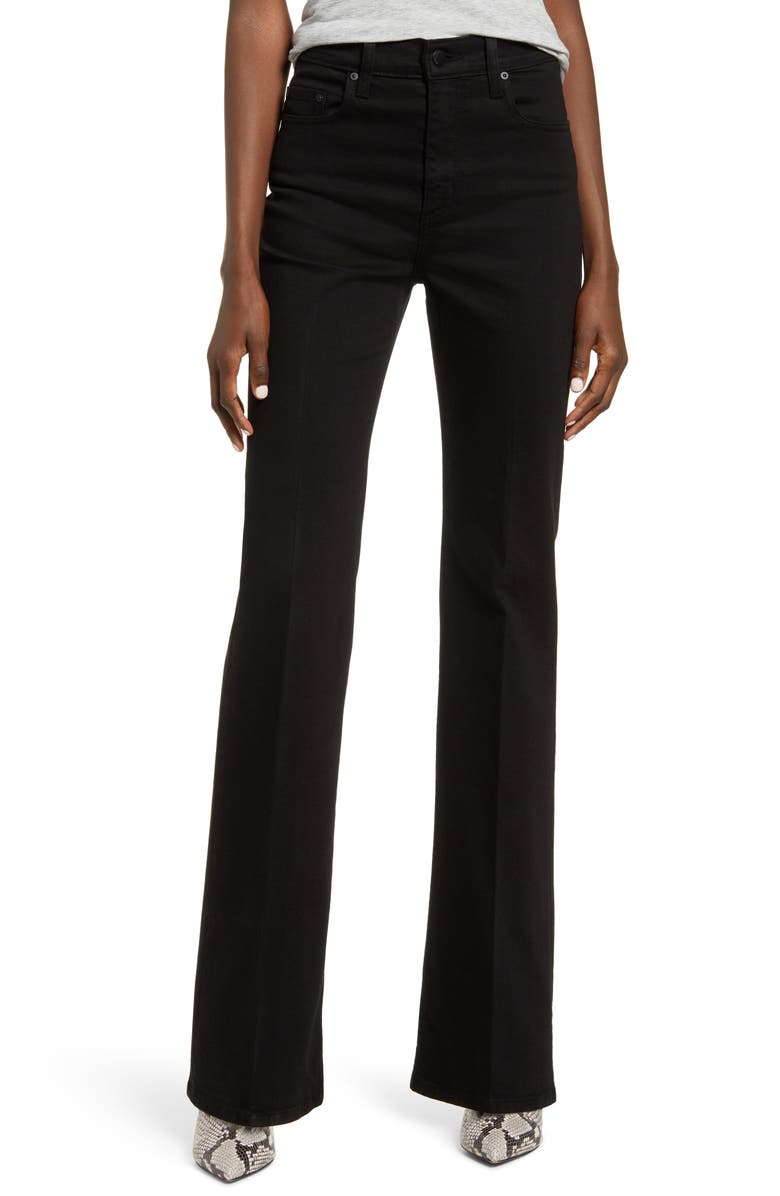 NOBODY DENIM Jacqueline High Waist Flare Jeans, Main, color, PURE BLACK