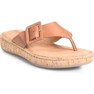 B?rn Fort Pierre Buckle Flip Flop, Brown