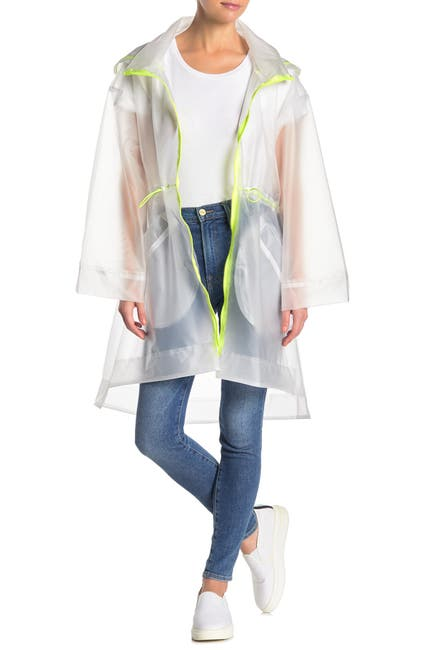 Image of Elodie Clear Neon Trim Trench Coat