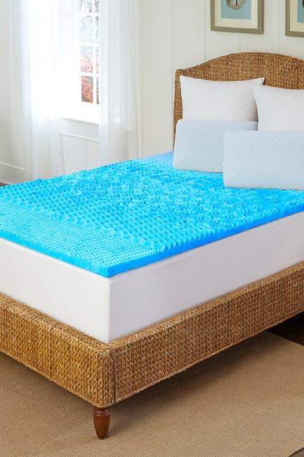 Image of Rio Home Arctic Sleep(TM) Marbleized Gel Memory Foam Topper - King
