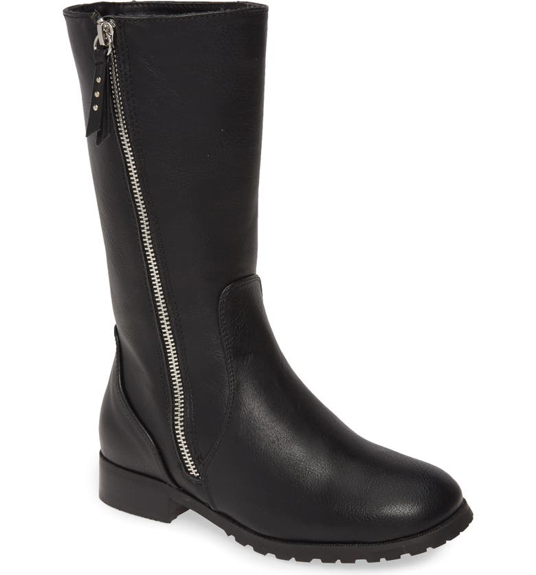 TUCKER + TATE Tall Boot, Main, color, BLACK FAUX LEATHER