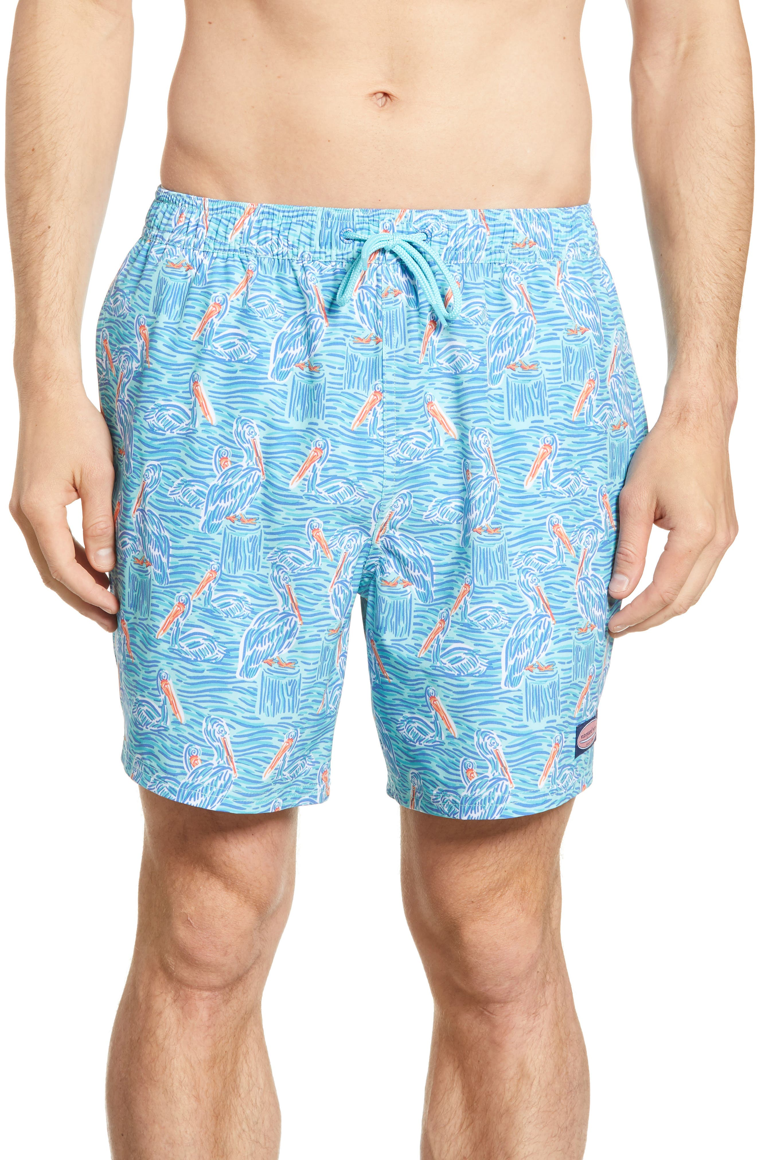 74beb5f1cb067 Vineyard Vines Chappy Pelican Print Swim Trunks, Blue