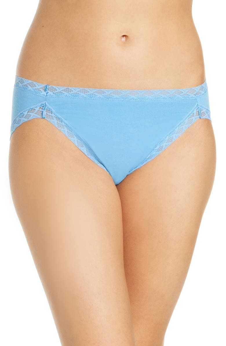 NATORI Bliss French Cut Briefs, Main, color, AZURE