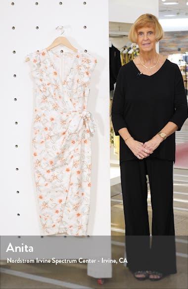 Kamea Wrap Style Cotton & Linen Dress, sales video thumbnail