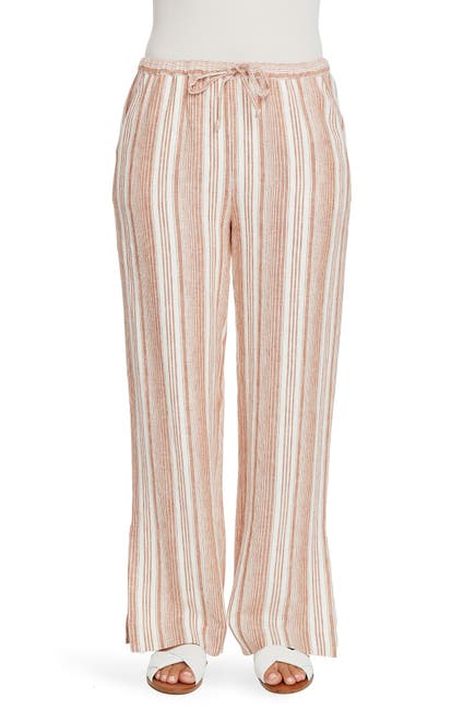 Image of Chaus Linen Stripe Pants