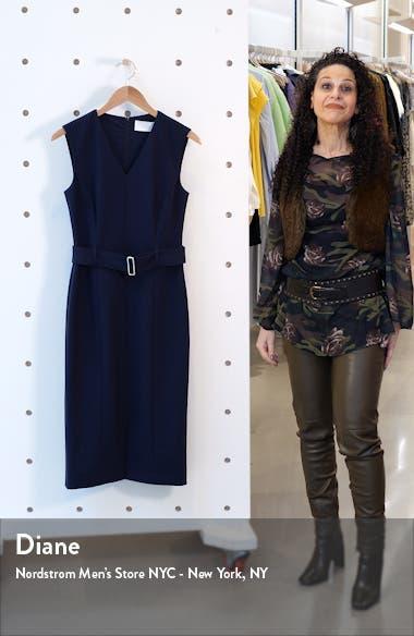Dadorina Belted Front Slit Sheath Dress, sales video thumbnail