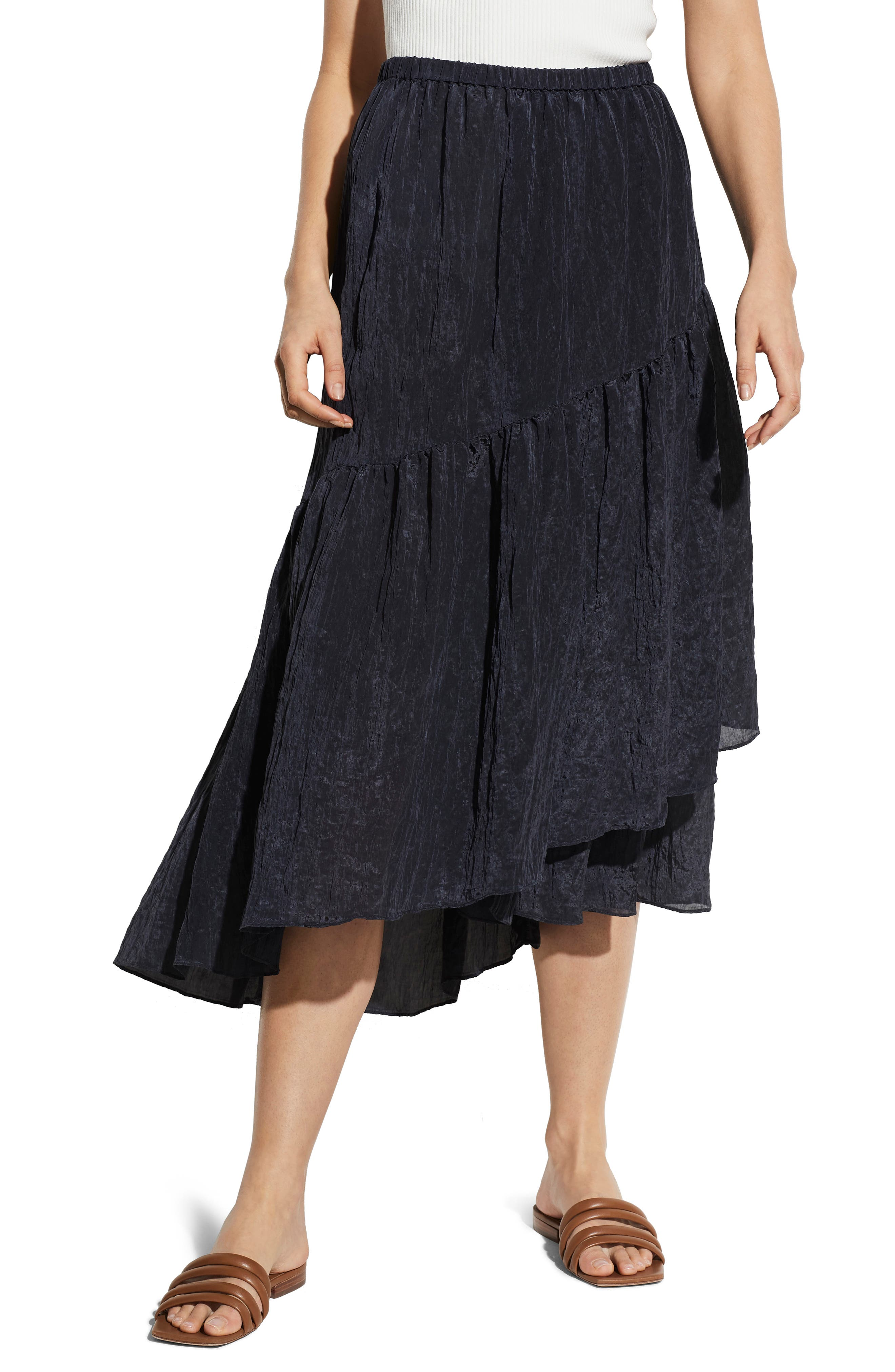 Image of Vince Tiered Textured Midi Skirt