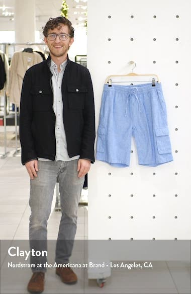 Tom Drawstring Linen Blend Cargo Shorts, sales video thumbnail