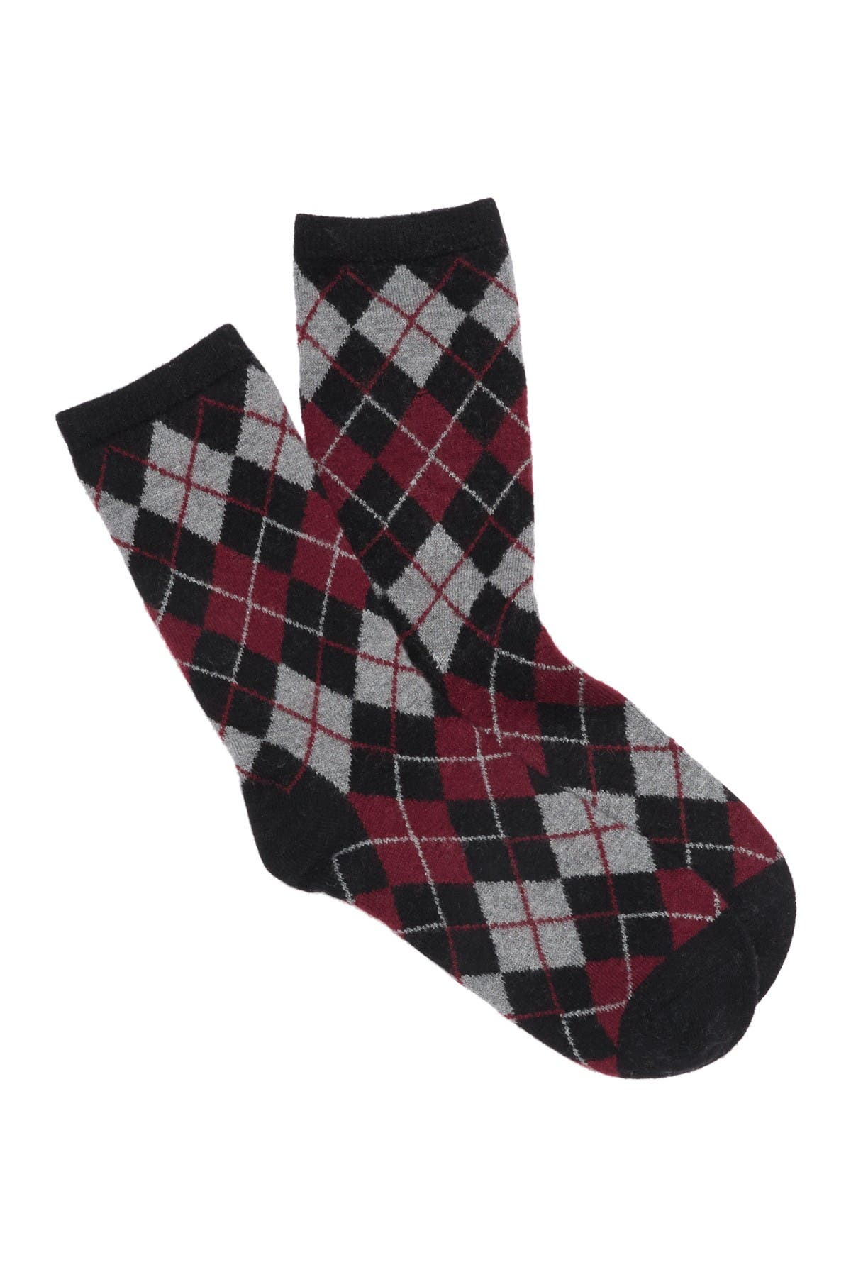 Image of MEMOI Argyle Crew Socks