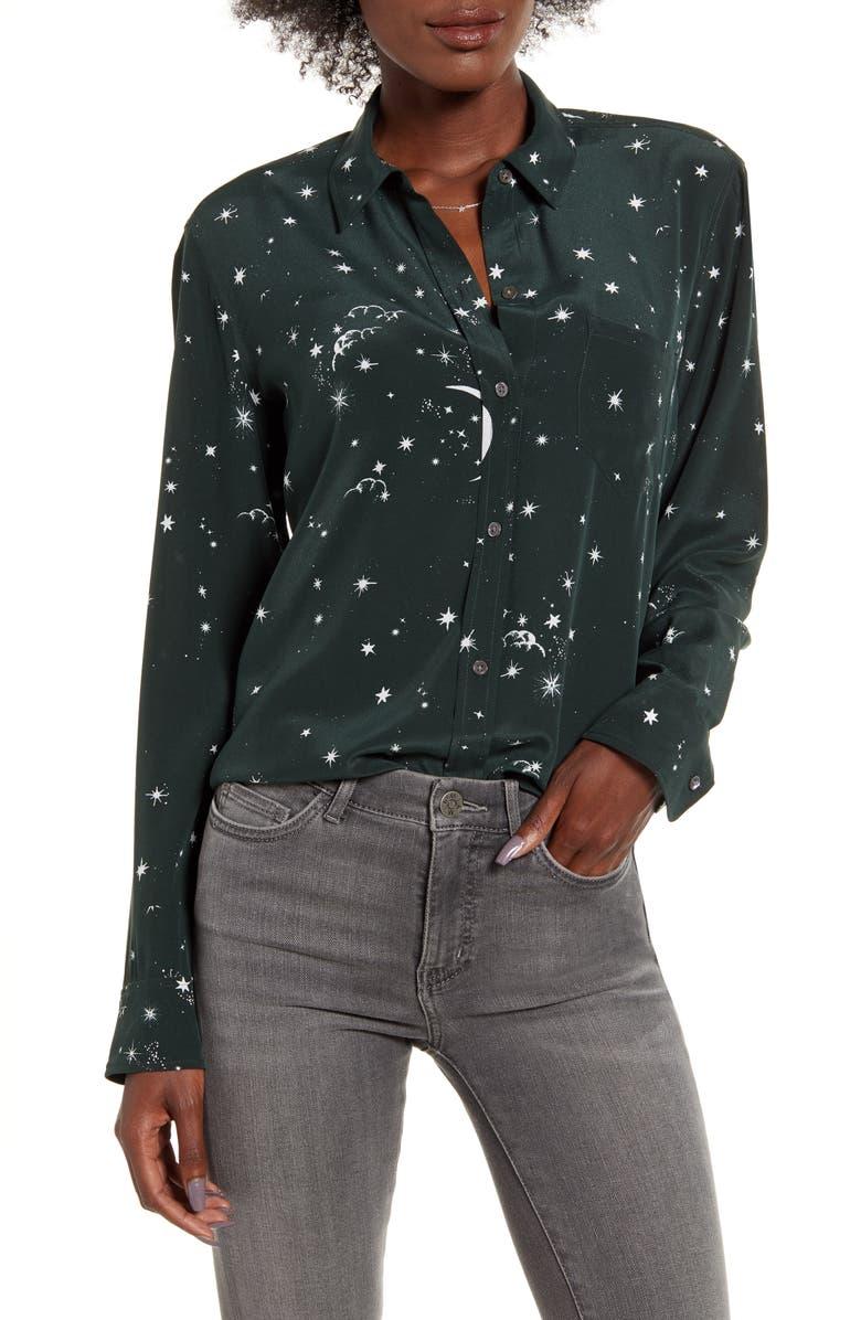 RAILS Kate Print Shirt, Main, color, CELESTIAL