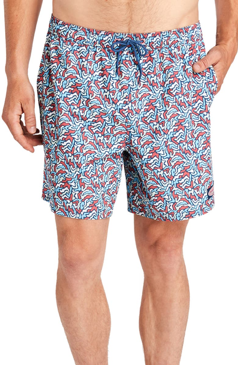 VINEYARD VINES Camo Chappy Swim Trunks, Main, color, MOONSHINE