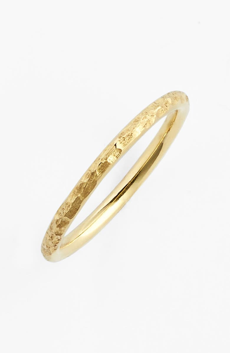 BONY LEVY Hammered 14k Gold Midi Ring, Main, color, YELLOW GOLD