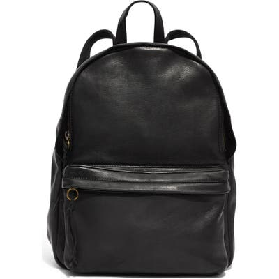 Madewell Lorimer Leather Backpack - Black