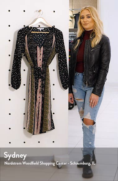 Nollie Stripe Long Sleeve Midi Dress, sales video thumbnail