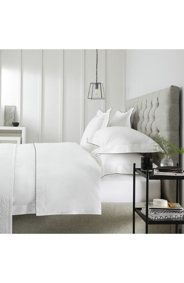 THE WHITE COMPANY Melbury 500 Thread Count Flat Sheet, Main, color, WHITE