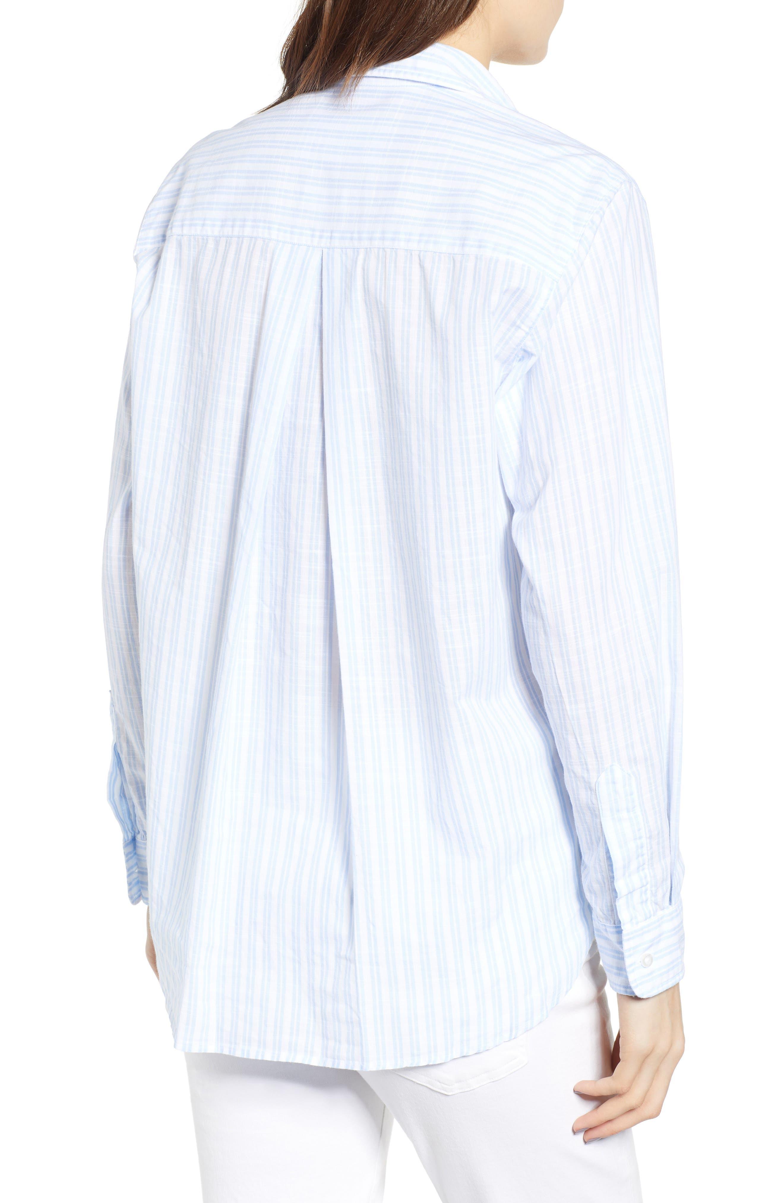 ,                             The Hero Washed Cotton Shirt,                             Alternate thumbnail 2, color,                             MARGARET BLUE STRIPE
