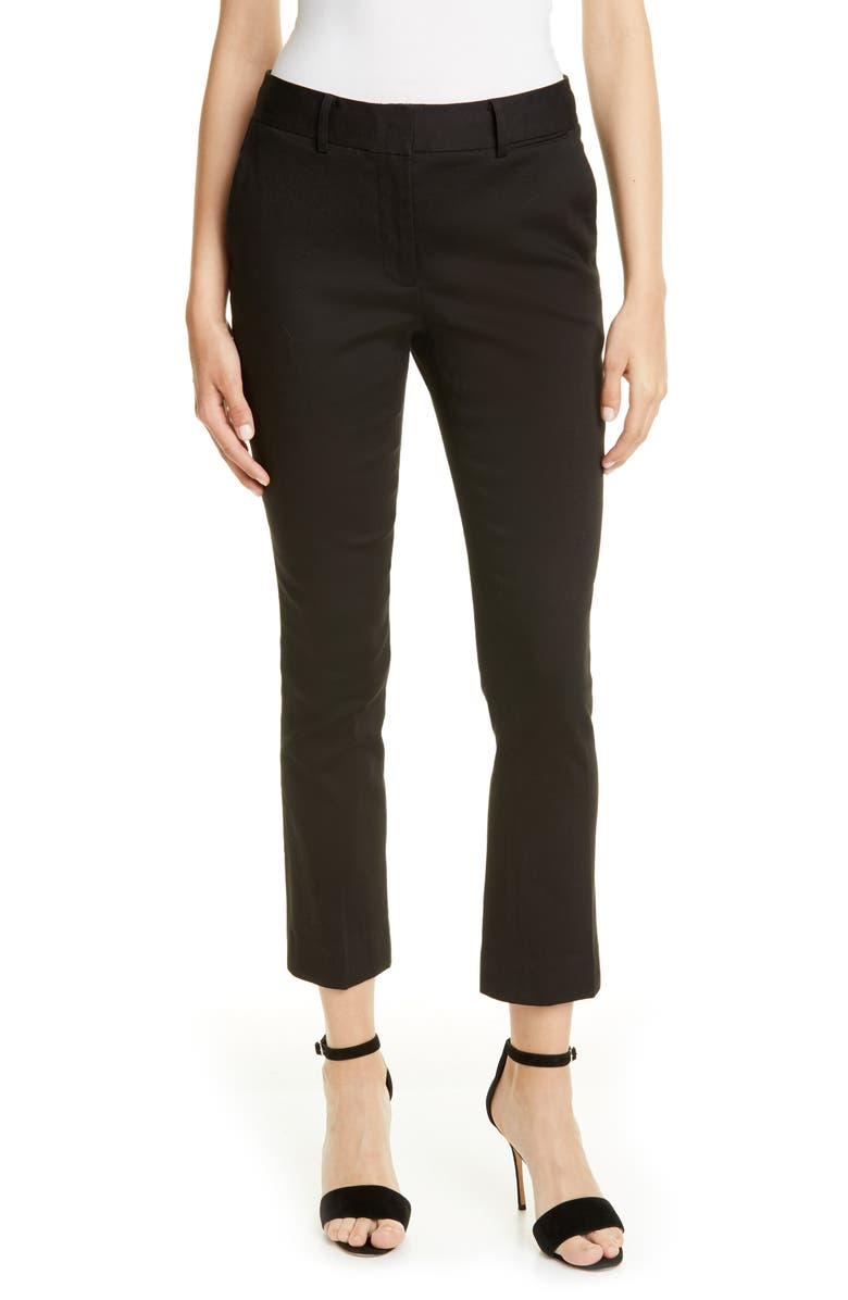 FRAME Perfect Slim Crop Trousers, Main, color, NOIR