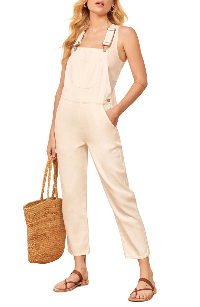 REFORMATION Smith Overalls, Main, color, 100