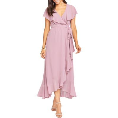 Show Me Your Mumu Jess Ruffle Maxi Dress, Pink