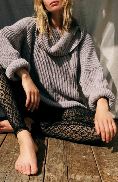 Free People Sweaters LEO TUNIC SWEATER