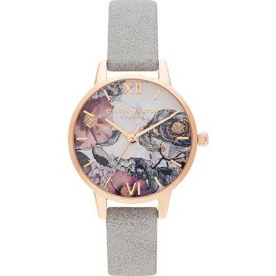 Olivia Burton Floral Recycled Strap Watch, 30Mm