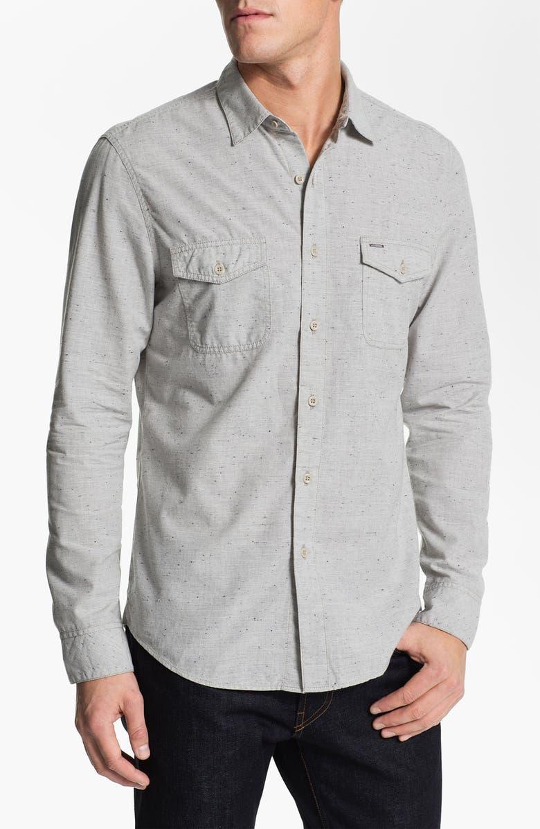 1901 Nep Cotton Woven Shirt, Main, color, 020