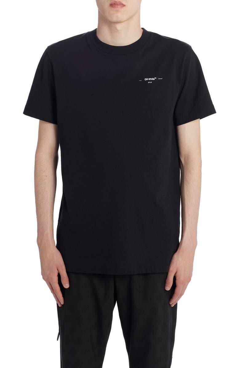 OFF-WHITE Arrow Logo Slim T-Shirt, Main, color, BLACK SILVER