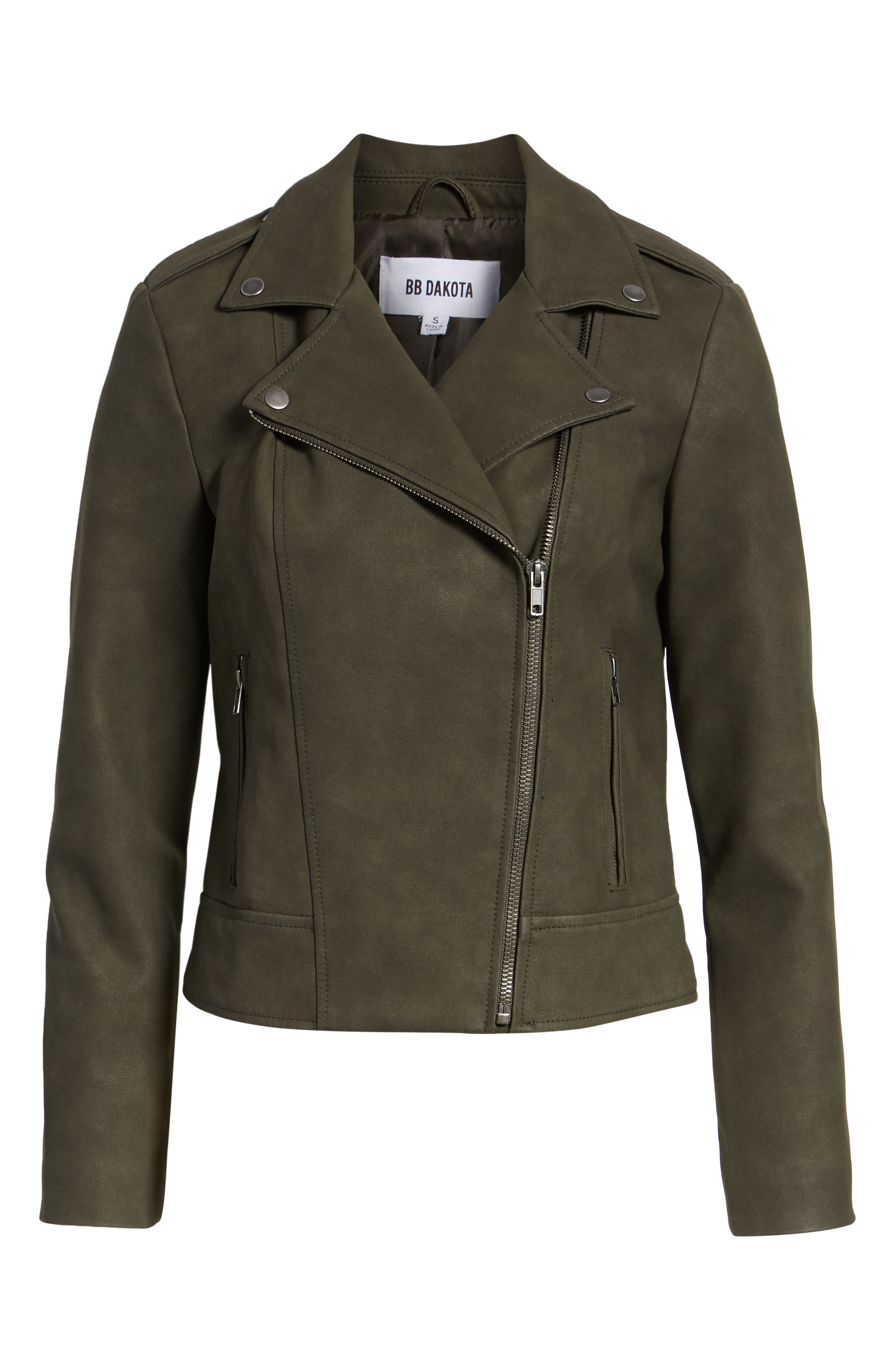 ,                             Easy Rider Faux Leather Moto Jacket,                             Alternate thumbnail 19, color,                             301