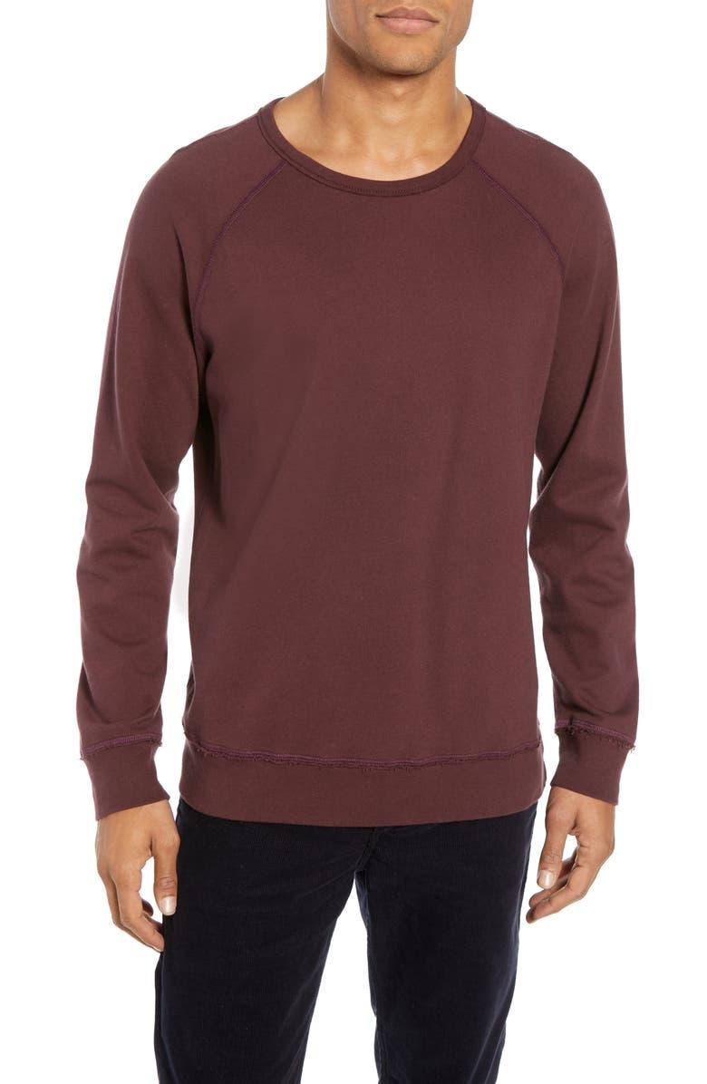 AG Toby Slim Fit Crewneck Sweatshirt, Main, color, SULFUR RICH CAR