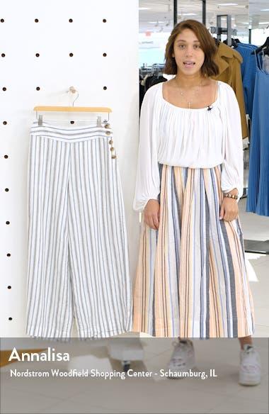 Stripe Wide Leg Linen Pants, sales video thumbnail
