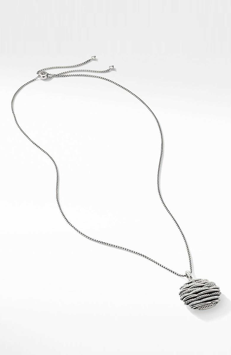 DAVID YURMAN Tides Pendant Necklace with Diamonds, Main, color, STERLING SILVER/ DIAMOND