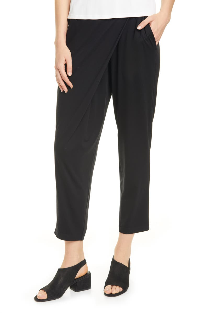EILEEN FISHER Slouchy Pants, Main, color, 001