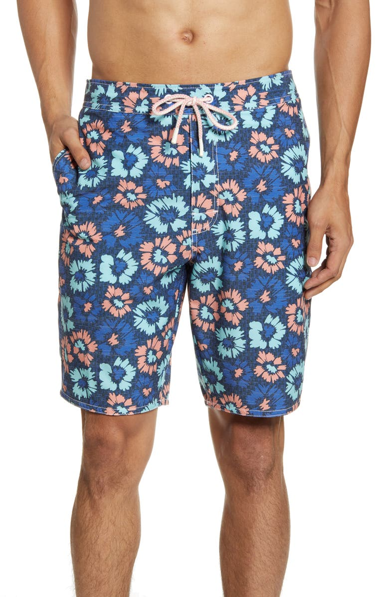 JOHNNIE-O Vessup Floral Swim Trunks, Main, color, TWILIGHT