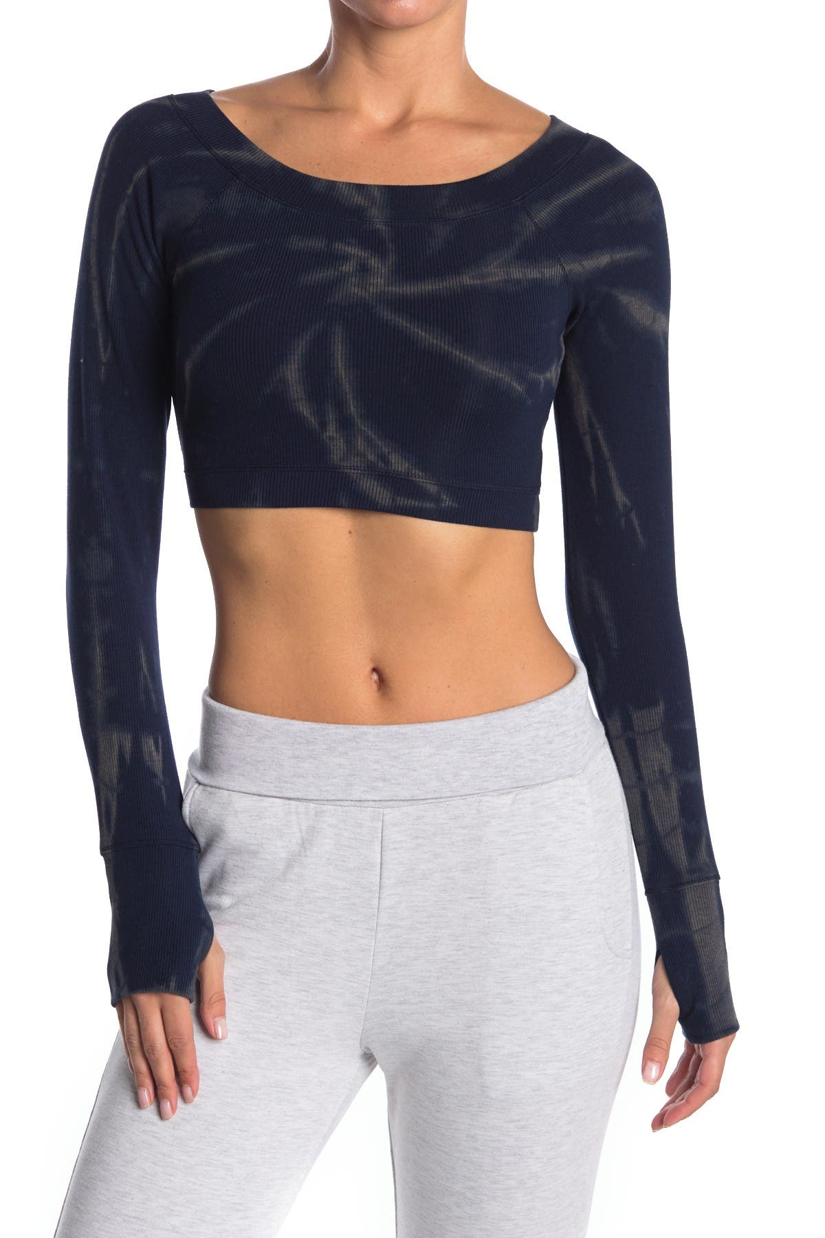 Image of ARX LAB Tie Dye Ribbed Knit Crop Top