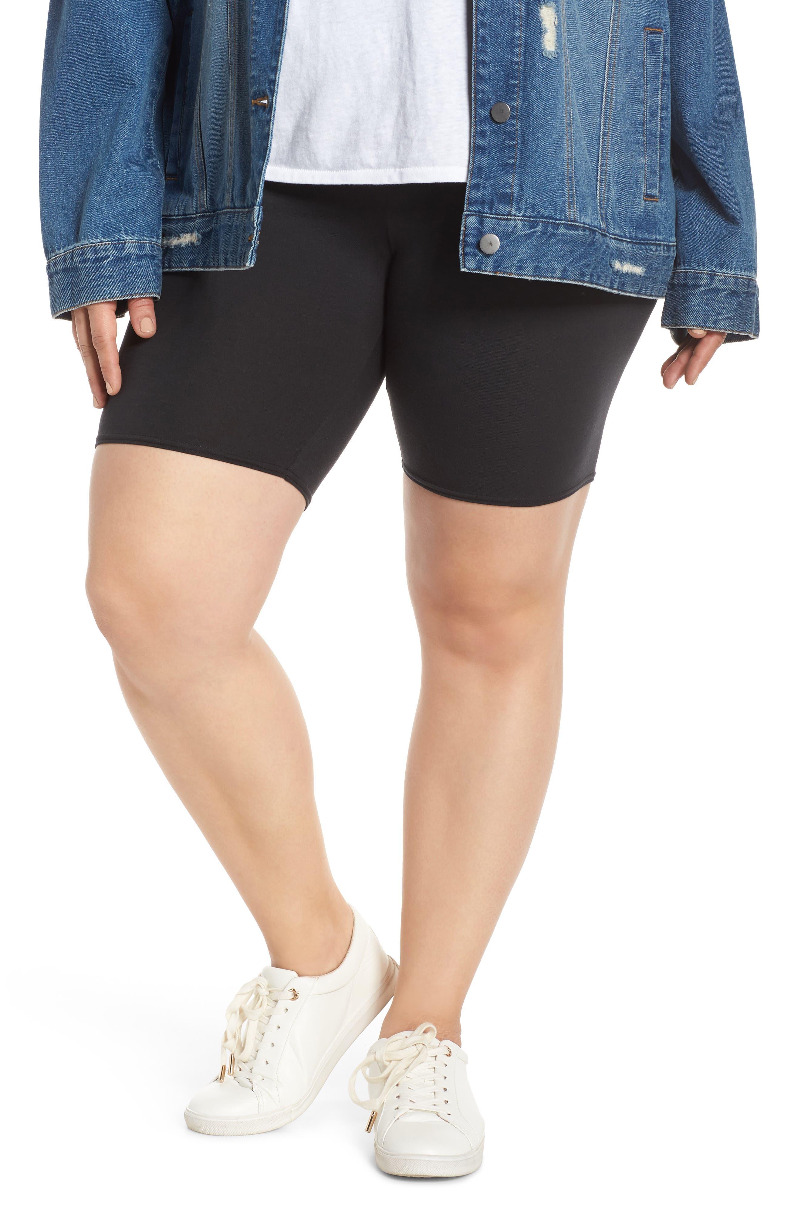 Plus Size Make + Model High Waist Biker Shorts