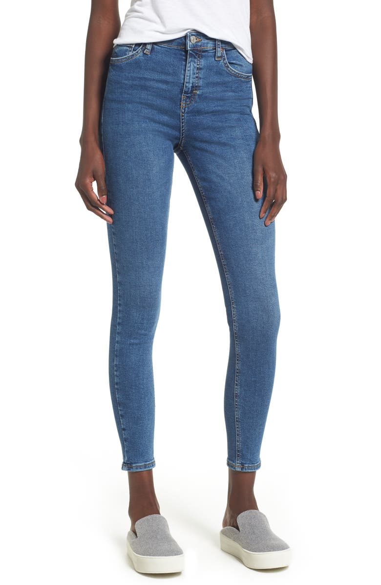 TOPSHOP Jamie Indigo High Waist Skinny Jeans, Main, color, 401