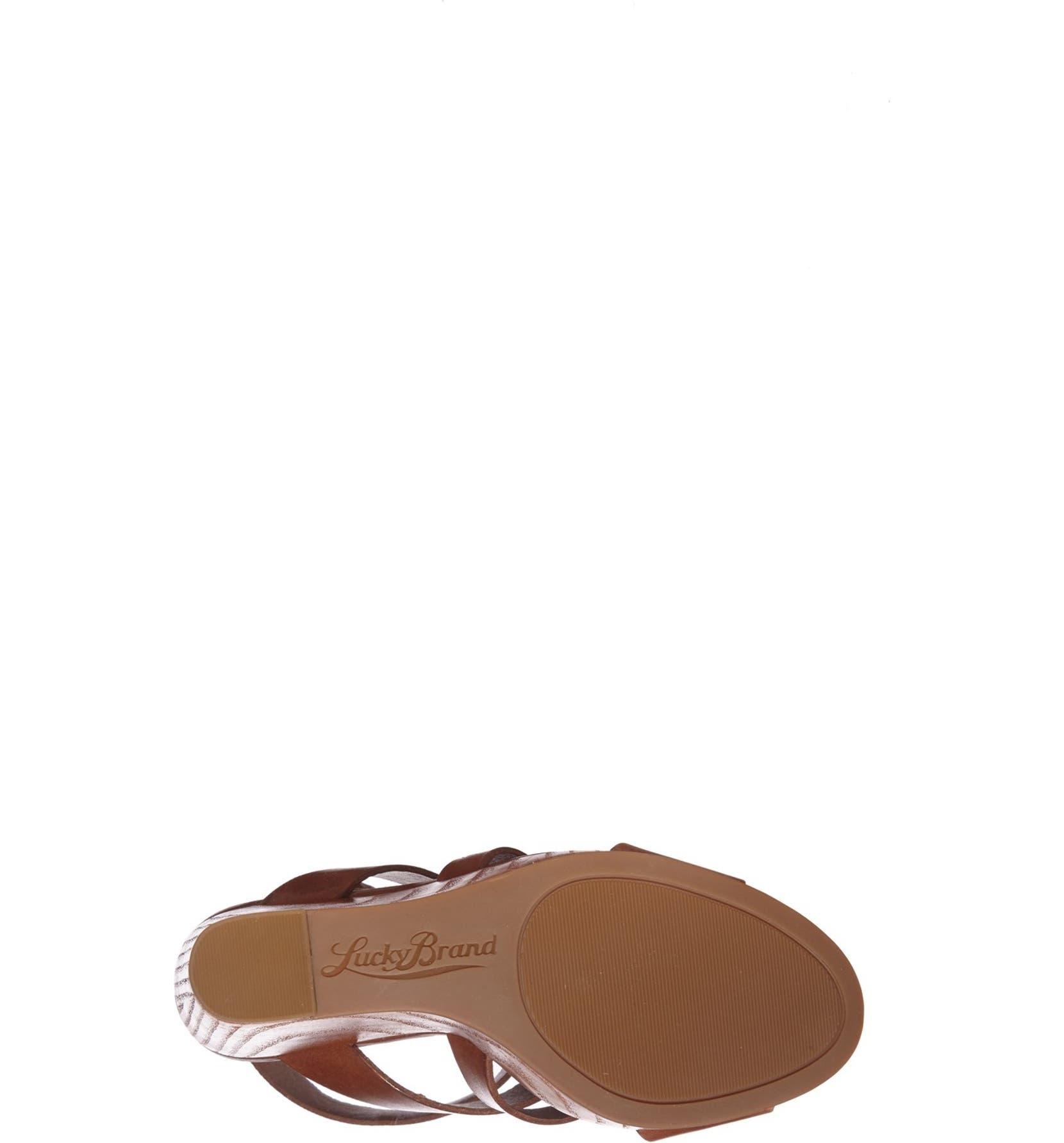 c852799196 Lucky Brand 'Roselyn' Leather Caged Platform Sandal (Women) | Nordstrom