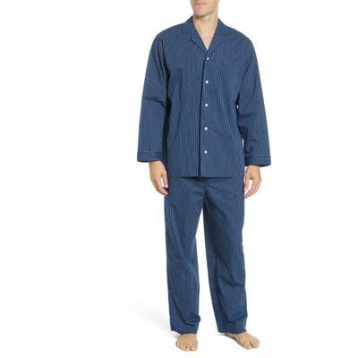 Nordstrom Shop Poplin Pajama Set, Blue