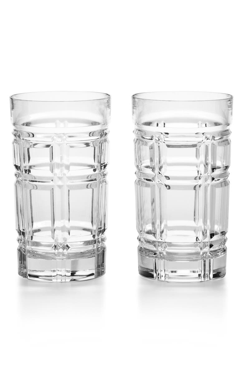 RALPH LAUREN Greenwich Set of 2 Lead Crystal Highball Glasses, Main, color, CLEAR