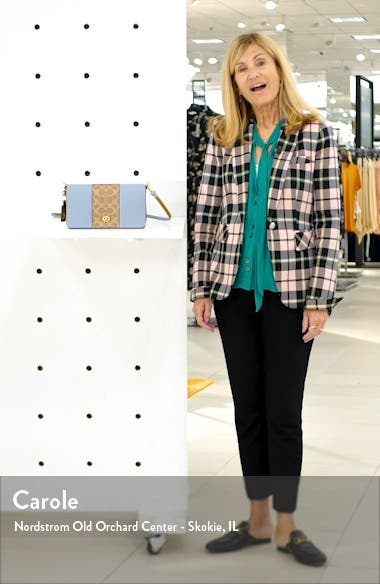 Dinky Leather & Signature Canvas Crossbody Bag, sales video thumbnail