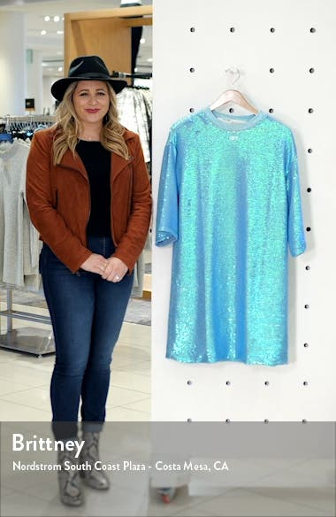 Logo Sequin T-Shirt Dress, sales video thumbnail
